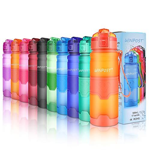 WINPOST Bottiglia d'Acqua Sportiva Senza BPA - Borraccia 500ml&700ml&1000ml