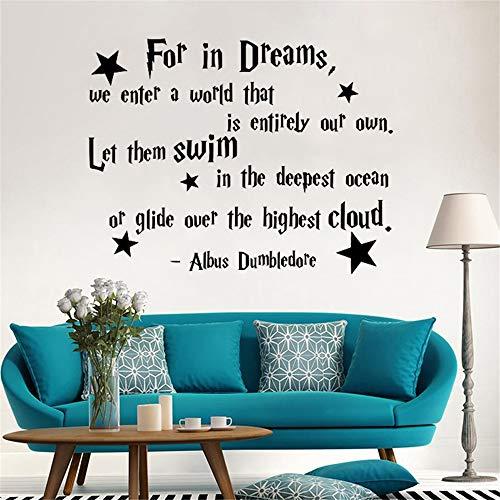 Sticker mural Albus Dumbledore Devis Pour Chambre D'enfants Harry Potter Art Pépinière Bébé Chambre Décor À La Maison