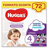 Huggies Ultra Comfort Pannolino Mutandina, Taglia 4/9-14 Kg, Confezione da 72 Pannolini, 36 x 2