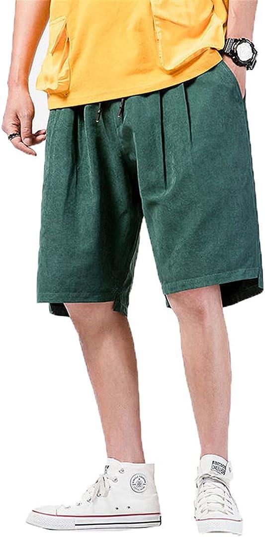 Kevents Men's Solid Color Casual Pants Woman Harajuku Style Shorts Oversize Male Shorts Hip Hop Pants