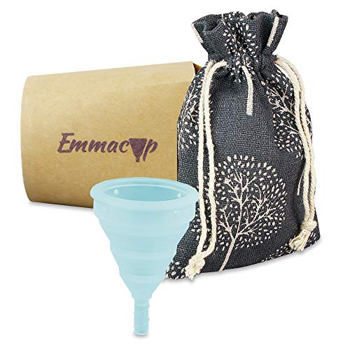 EmmaCup, die faltbare Menstruationstasse – inklusive Clic-Clac-Dose, Stoffbeutel und Becher zur Reinigung - 2