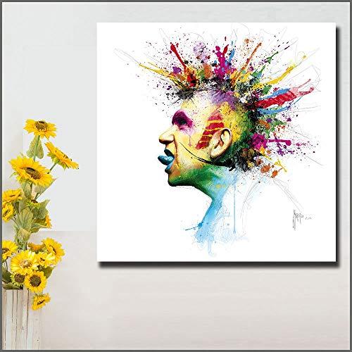 Olieverf Pop Art Jean Franse High Fashion Wall Art Canvas Foto Woondecoratie Woonkamer Frameloze schilderij 30X30CM