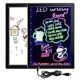 SODIAL Pizarra Blanca + Letrero LED Uno o dos Roles Tablero de Dibujo para ninos Tablero de anuncios electrico DIY Dibujo Doble de 28 Modo de iluminacion Conexion (32.5 x 23.7 cm)