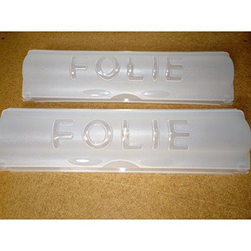 1a-becker 2er Set Folienspender für Alu- und Frischhaltefolie Folienabroller Folienhalter Folien Spender