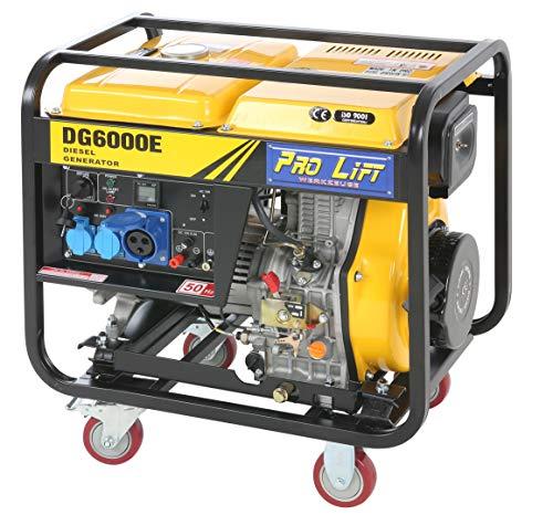Pro-Lift-Werkzeuge Stromerzeuger 5500W Elektro-Starter 4-Takt-Diesel-Motor Generator 230V Notstromaggragat 5,5kW Stromgenerator