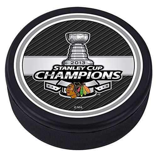 Mustang Chicago Blackhawks 3D strukturierte Stanley Tasse 2013 Souvenir Hockey-Puck