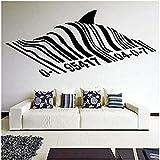 Pegatinas de pared Etiqueta de la pared 57X26 cm Código de barras Shark Street Graffiti Style Wall Shark Design Street Wall