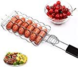 Nil BBQ Sausage Holder and Turner, Grill Basket Turner For BBQ | BBQ Accessories
