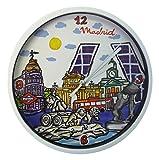 Nadal Reloj Mediano Monumentos Madrid, Multicolor, 20 x 20 x 3,45 cm