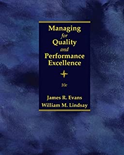 Managing for Quality and Performance Excellence by James R. Evans (2016-01-01)