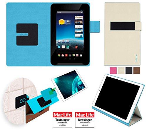 Hülle für Medion Lifetab E7312 Tasche Cover Case Bumper | in Beige | Testsieger