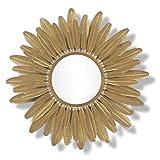 IREANJ Espejo de pared Metal en forma de sol decorativo flor de oro decoración Hotel espejo baño pared espejo pared espejo decoración