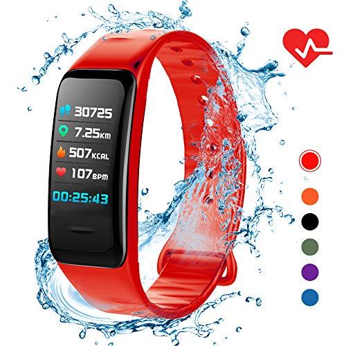 Lixada Smart Armband IP67 dames heren fitness tracker horloge met hartslagmeter stappenteller calorieënteller slaapbewaking