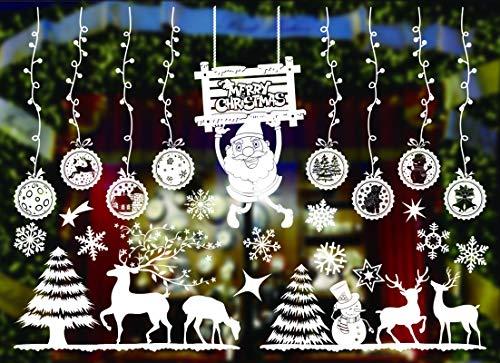 KATELUO Pegatinas para ventanas de Navidad, decoración de ventanas, suministros de Año...