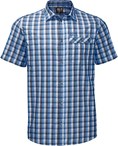 Jack Wolfskin Napo River Chemise Homme, Night Blue Checks, FR : L (Taille Fabricant : L)