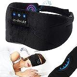 Auriculares Bluetooth para Dormir, máscara para Dormir con música, máscara para los Ojos, Auriculares inalámbricos para Dormir, Gafas para Dormir Que bloquean la luz con micrófono