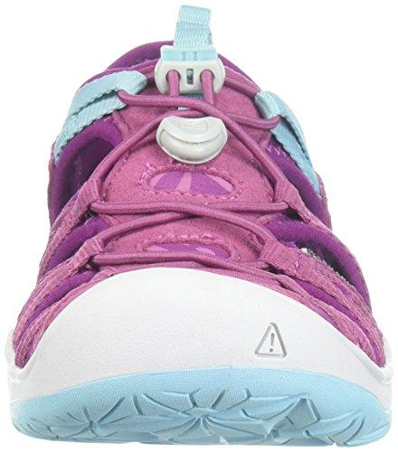 Sandalias para niños, modelo Moxie, de Keen., Morado (púrpura vino/Nasturtium), 37 EU