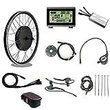 Tbrand RICETOO 48V 1000W WP Plug Kit de conversión de Bicicleta eléctrica de rotación Trasera 20'24' 26'27.5' 28'29''700C con Pantalla KT-LCD3. (48V 1000W 26inch)
