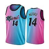 Z/A Miami Heat Tyler Herro # 14 Jersey Sportswear Unisex Sin Mangas Camiseta Bordado Mesh Baloncesto Chaleco Equipo De Partidario Camiseta,XXL