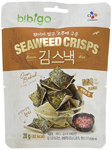 BIBIGO Seetang-Reis-Chips, BBQ-Geschmack (1 x 20 g)