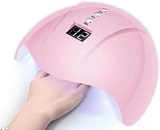 Lámparas clavar Secador Lámpara UV LED para clavos Secador profesional de uñas de 36 vatios para todos los geles Se adapta a ambas manos o pies con 3 temporizadores, sensor, gel de 12 perlas, pantalla