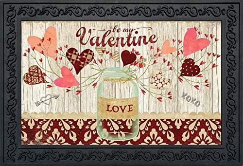 Briarwood Lane Lovely Hearts Valentine's Import Jar Doormat Mason New color Day I
