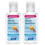 2Pcs Antibacterial Foaming Hand Soap, 50ml Hand Sanitizer Gel with Vitamin E and Aloe Vera, Antibacterial, Alcohol-free, Moisturizing Gentle Clean Hands,Kills 99.9% of Germs for Adults & Kids