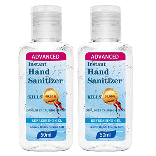 2Pcs Antibacterial Foaming Hand Soap, 50ml Hand Sanitizer Gel with Vitamin E and Aloe Vera, Antibacterial, Alcohol-free, Moisturizing Gentle Clean...