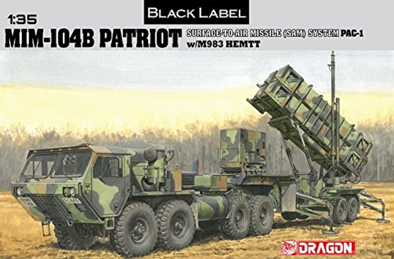 1 35 Kit Mim-104B Patriot Surface-to-Air Missile (Sam) System (Pac-1) W M983 Hemtt