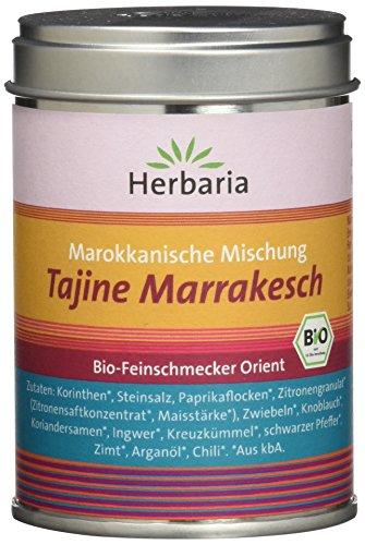 "Herbaria \""Tajine Marrakesch\"" Marokkanische Gewürzmischung, 1er Pack (1 x 100 g Dose) - Bio"