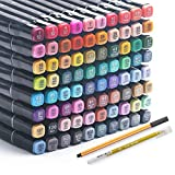 Alcohol Markers 80 Colors Art Markers Professional Copic Markers Art Pen...