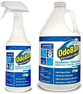 OdoBan Professional Cleaning Odor Eliminator and Disinfectant, Ready-to-Use Fresh Linen..