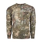 King's Camo Camiseta de Caza de algodón de Manga Larga, Mujer Hombre, KCB104-MS-L, Sombra de montaña, L