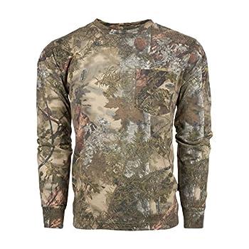 King s Camo Cotton Long Sleeve Hunting Tee Mountain Shadow Medium