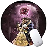 DISNEY COLLECTION Mouse Pad Round Mouse Pad Beauty and The Beast Fashionable