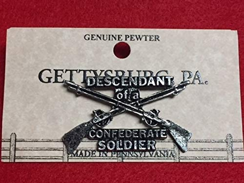 Descendant of A Gifts Confederate Soldier Pewter Lapel New Kansas City Mall PIN TAC HAT