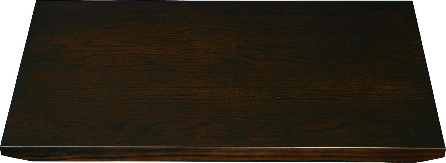 アクチュエータ先住民疑問に思う山家漆器店 木製 花台 飾り台 黒檀調 紀州漆器 (12号 36cm)