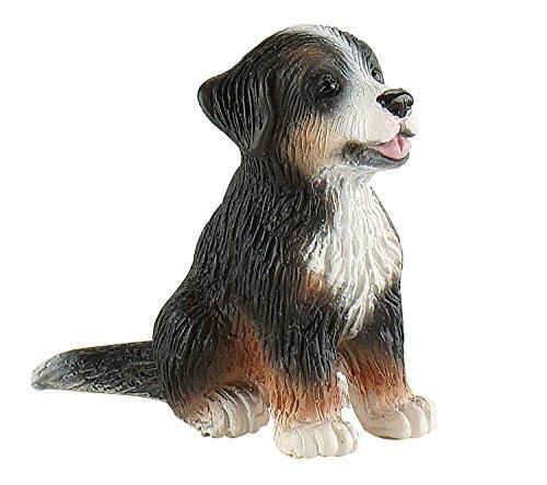 Bullyland 65437 - Spielfigur, Berner Sennenhund Welpe Joy, ca. 4 cm, ideal als Torten-Figur, detailgetreu, PVC-frei, tolles Geschenk für Kinder zum fantasievollen Spielen