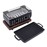 PQZATX 2-4 People Japanese Barbecue Grill Portable Barbecue Stove Japanese Food <span class='highlight'>Charcoal</span> Stove With Non-Stick Baking Tray