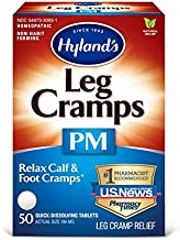 Leg Cramps Tablets by Hyland's, PM Nighttime Formula, Natural Relief of Calf, Foot and Leg Cramps at Night, 50 Count