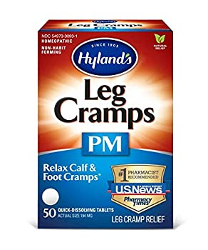 Leg Cramps Tablets by Hyland s PM Nighttime Formula Natural Relief of Calf Foot and Leg Cramps at Night 50 Count