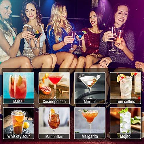 Hossejoy Hochwertiges Cocktailshaker Set,14 Teilig, mit Bambus-Aufbewahrung, inkl. Cocktail-Shaker, Doppeljigger, Messbecher, Bar Stößel, Bar Löffel, Ausgießer, Eiszange, Öffner, Hawthowe Strainer - 9