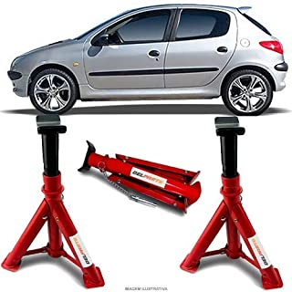 Par Cavalete Peugeot 206 Automotivo 4 Toneladas Com 3 Regulagens e Trava