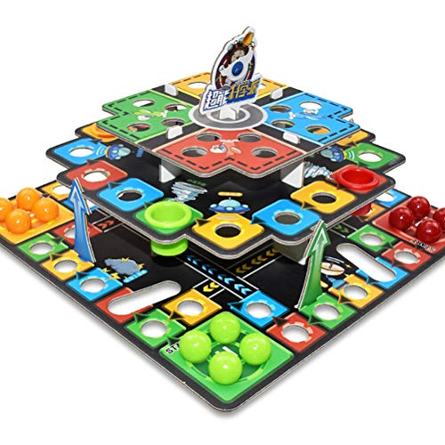 Mankoo 3D Puzzle Flying Chess Table Board Game Toys Toys Family Game Desktop Assemble Games for Parent-Child