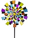 VP Home Kinetic Kaleidoscope Windmill 94' H Metal Stake Garden Wind Spinner