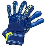 reusch attrakt freegel s1 finger support, guanti da portiere. uomo, blu profondo/giallo di sicurezza/blu scuro, 11