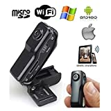 MD99S Professional High Definition Wireless P2P Pocket-Size Mini IP DV/WiFi Spy Camera/Camcorder for iPhone/Android(Black)