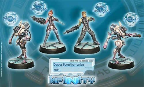 Synchronized Deva Unit (4) Aleph Infinity Corvus Belli by Corvus Belli