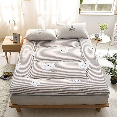 LXSHMF Piso Tatamicolchón,Japonés Futón Colchón Piso Tatami Cama Plegable Rodillo-hacia Arriba Dormitorio Estudiantil Colchón