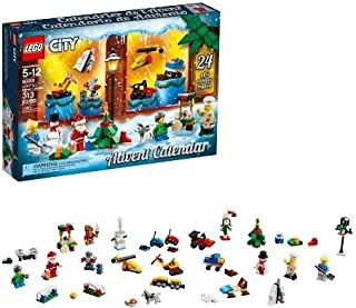 LEGO City Advent Calendar 2018 Newest 60201 Minifigures Small Building Toys, Christmas Countdown Calendar for Kids (313 Pieces)